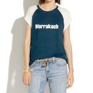 Madewell Blue Marrakech Logo Tshirt